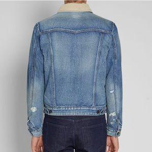 365674659c Saint Laurent Jackets & Coats - Saint Laurent corduroy collar denim jacket